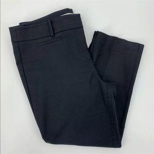 LOFT Marisa Riviera Pant Black Ankle Pants Sz 14